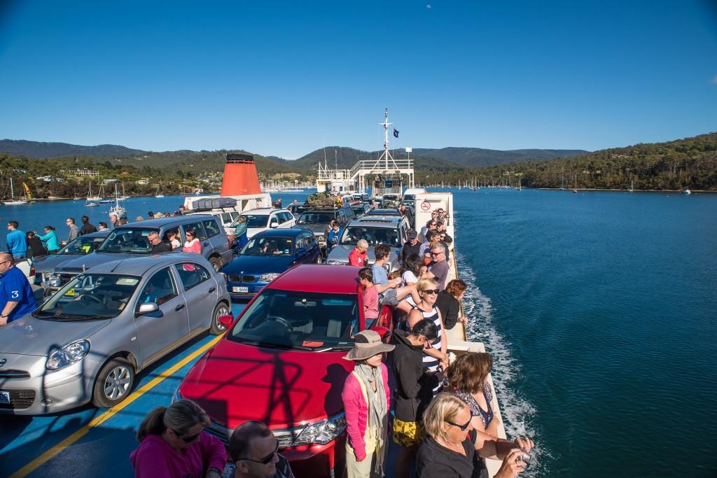 Adventure bound - the Bruny Island ferry.